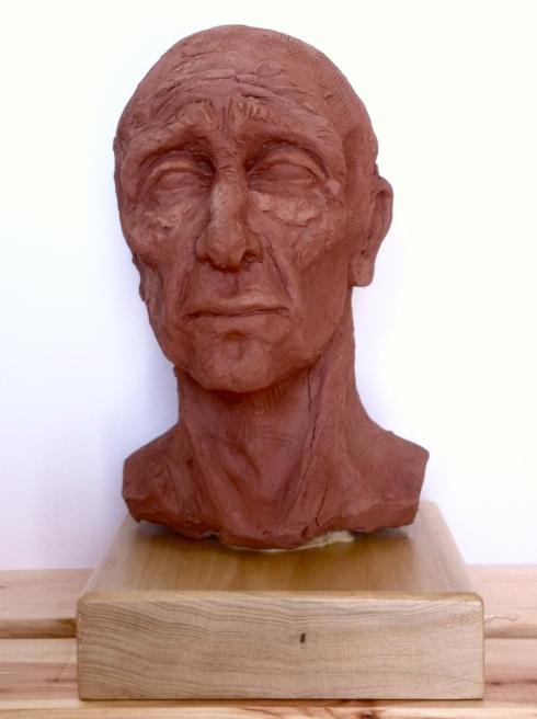 old man sculpture